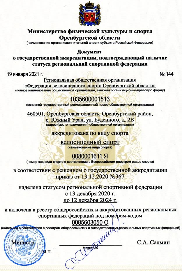 ФВСОО аккредитация 2021-2024